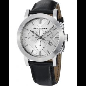 Correa de reloj Burberry BU9358 / 7177850 Cuero Negro
