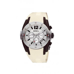 Correa de reloj Breil BW0235 Caucho Crema blanca