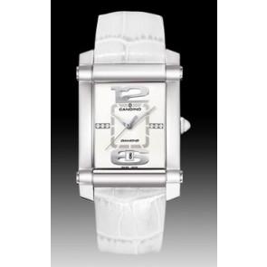 Correa de reloj Candino C4283 Cuero Blanco 22mm