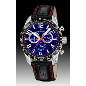 Candino correa de reloj C4429-2 Cuero Negro + costura roja