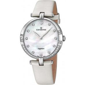 Correa de reloj Candino C4601 Cuero Blanco