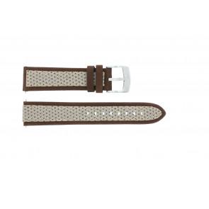 Correa de reloj Camel BC50990 / A667.5327LGPA Cuero/Textil Marrón 22mm