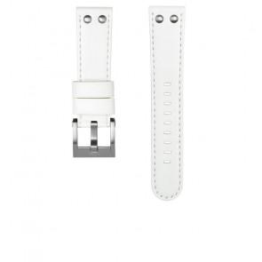 TW Steel correa de reloj CEB108 Cuero Blanco 22mm + costura blanca