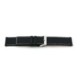 Correa de reloj de cuero genuino negro 38mm EX-J43
