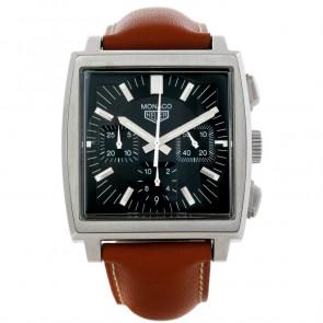 Correa de reloj Tag Heuer CS2111-BC0788 Cuero Marrón 22mm