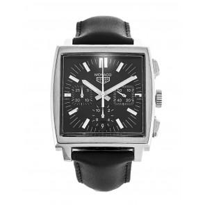 Correa de reloj Tag Heuer CS2111-BC0787 Cuero Negro 22mm