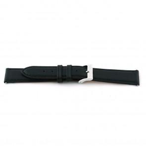 Correa de reloj F012 XL Cuero Negro 18mm + costura predeterminada