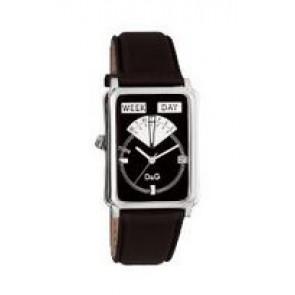 Correa de reloj Dolce & Gabbana DW0122 Cuero Negro