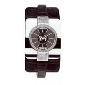 Correa de reloj Dolce & Gabbana DW0161 Piel de cocodrilo Negro 10mm