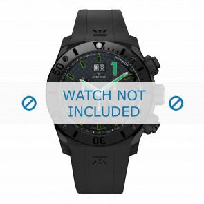 Correa de reloj Edox 10020-37N-NV Silicona Negro 22mm