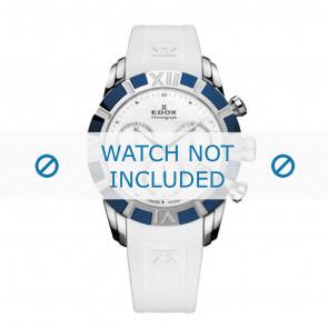Edox correa de reloj 10405-357B-NAIN Silicona Blanco 18mm