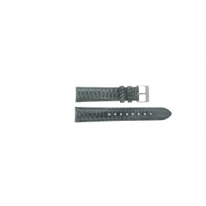 Esprit correa de reloj ES103062 / 819660 Cuero Gris 18mm + costura gris
