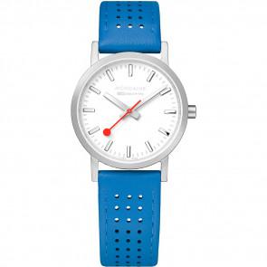 Correa de reloj Mondaine A658.30323.16SBD / FE3116.40Q.2 Cuero Azul 16mm