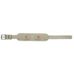 Fossil correa de reloj JR-8782 Piel Blanco crema 12mm