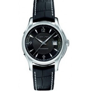 Correa de reloj Hamilton H001.32.515.535.01 / H600325101 Cuero Negro 20mm