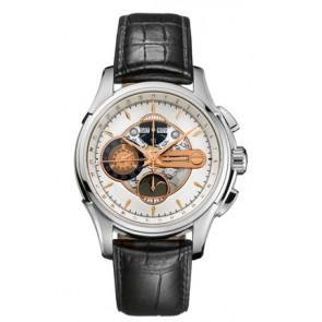 Correa de reloj Hamilton H32696751 Cuero Negro 22mm