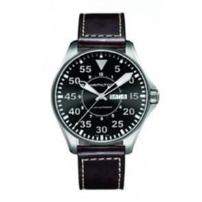 Correa de reloj Hamilton H64715535 Cuero Marrón oscuro 22mm