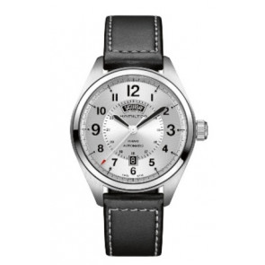 Correa de reloj Hamilton H001.70.505.753.01 Cuero Negro 20mm