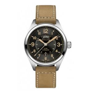 Correa de reloj Hamilton H001.70.505.833.01 Cuero Beige 20mm