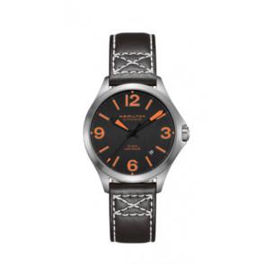 Correa de reloj Hamilton H76235731 Cuero Negro 19mm