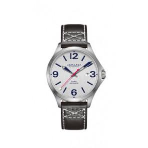Correa de reloj Hamilton H76525751 Cuero Negro 20mm