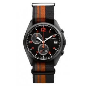 Correa de reloj Hamilton H76582933 Textil Multicolor 22mm