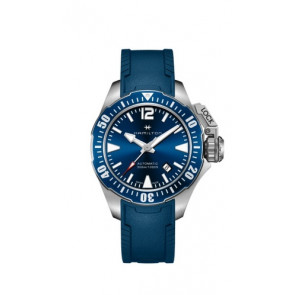Correa de reloj Hamilton H77705345 Caucho Azul 20mm