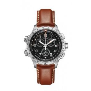 Correa de reloj Hamilton H77912535 Cuero Marrón 22mm