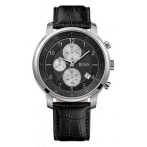 Correa de reloj Hugo Boss HB-137-1-14-2352 Cuero Negro 22mm