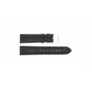Correa de reloj Universal 305L.01.12 XL Cuero Negro 12mm