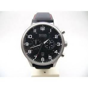 Correa de reloj Hugo Boss HB.199.114.2570 Cuero/Plástico Negro 22mm