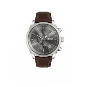 Correa de reloj Hugo Boss HB-297-1-14-2956 / HB659302764 Cuero Marrón oscuro 22mm