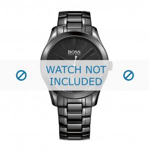 Hugo Boss correa de reloj HB-269-1-49-2792 / HB1513223 Cerámica Negro