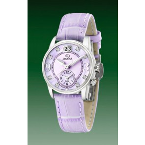 Correa de reloj Jaguar J624-B Cuero Púrpura 17mm