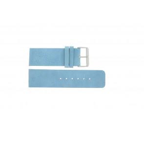 Correa de reloj Universal J625 Cuero Azul 26mm