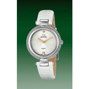 Correa de reloj Jaguar J832-1 Cuero Blanco