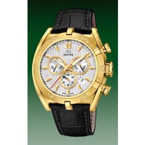 Correa de reloj Jaguar J858-1 / J858-3 Cuero Negro