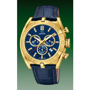 Correa de reloj Jaguar J858-2 Cuero Azul