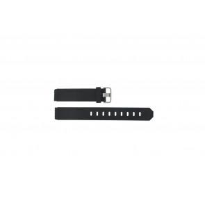 Correa de reloj Jacob Jensen 750 Shine Caucho Negro 17mm