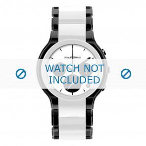 Jacques Lemans correa de reloj 1-1580E Cerámica Bicolor