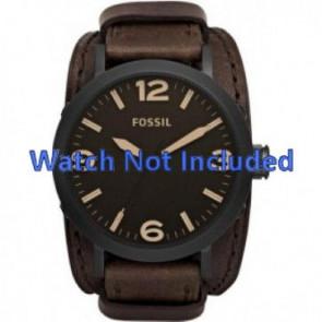 Fossil correa de reloj JR1365 Piel Marrón oscuro 22mm