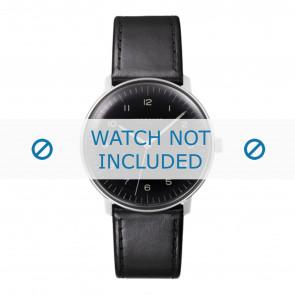 Junghans correa de reloj 027/3400.00 Cuero Negro 20mm + costura predeterminada