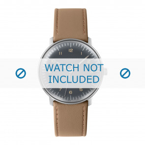 Junghans correa de reloj 027/3401.00 Cuero Beige 20mm + costura predeterminada