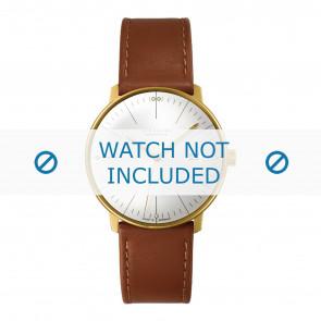 Junghans correa de reloj 027/7700.00 Cuero Cognac 20mm + costura predeterminada