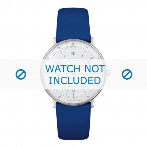 Correa de reloj Junghans 047/4540.00 Cuero Azul 18mm