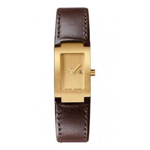Correa de reloj Calvin Klein K600026550 / K0411209 Cuero Marrón