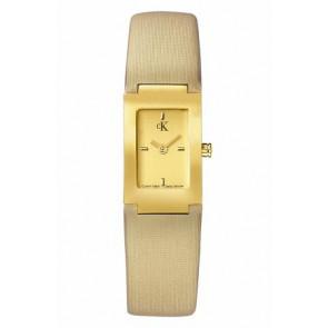 Correa de reloj Calvin Klein K604022453 / K0411224 Cuero Beige