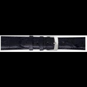 Morellato correa de reloj Amadeus XL G.Croc Gl K0518052019CR22 / PMK019AMADEU22 Cuero de cocodrilo Negro 22mm + costura predeterminada