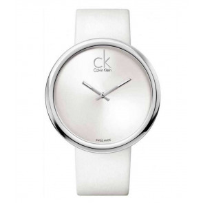 Correa de reloj Calvin Klein K0V23120 Cuero Blanco 22mm
