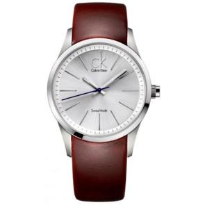 Correa de reloj Calvin Klein K2241138 Cuero Marrón